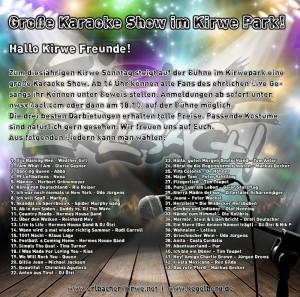 Karaoke Show - Kirwe-Park 2015